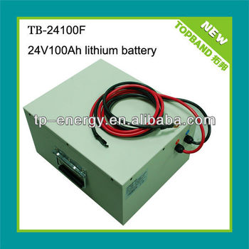 lithium ion car batteries 24v 100ah