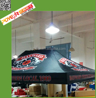 Trade show advertising black tent