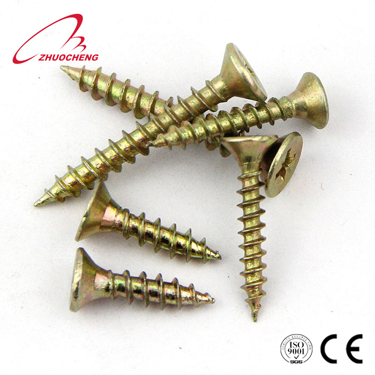 Zinc plated Carbon steel chipboard <strong>screw</strong> <strong>c1022</strong> for wood
