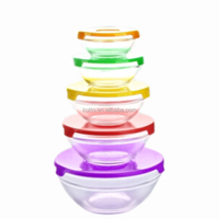 5pcs Circular Glass Storage Bowl Set