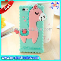 cute silicone 3D soft animal case for iphone 5 5s 5g Biscuit cover cell phone case wholesale