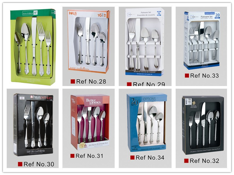 Wal-mart hand polish stainless steel flatware set