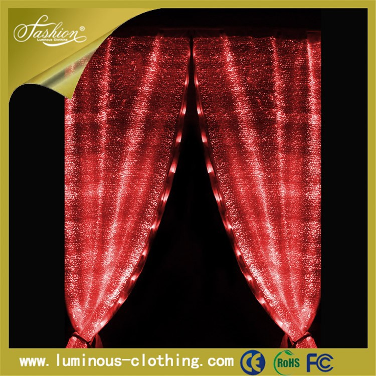 luminous fiber optic clothing hot living room luxury window curtains design