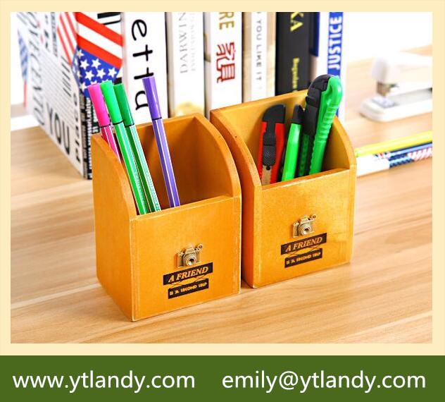 decoration small wooden pen storage trays
