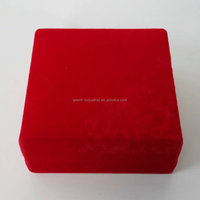 Fancy Customized red valentines gift packaging box for bracelet packing 90*90*40mm