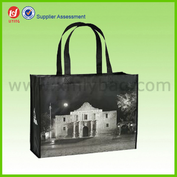 Promotional Gold Laminated Non Woven Carry Bags