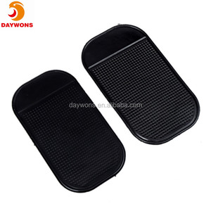 Silicone Magic Anti-slip Mat Car Dashboard Adhesive Pad for Cell Phone CD Electronic Devices Phone Black 1pc