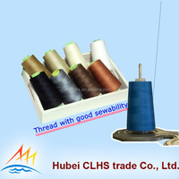 Raw white or dyed spun polyester sewing thread 40/2 in factory directly price