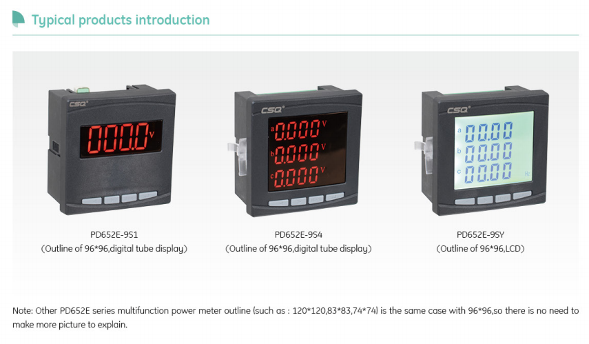 LED Display digital voltmeter ammeter multi-function meter