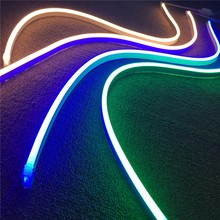 Outdoor neon lighting waterproof ultra thin RGB ws2812 led neon flex rope light