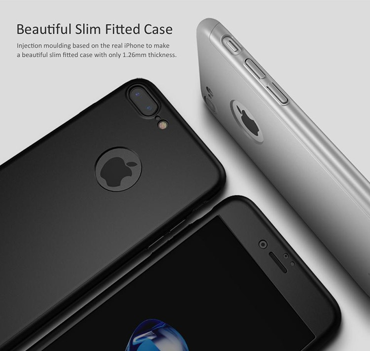 2017 trending products ipaky 360 case full protective with free tempered glass phone case for iphone 7 case