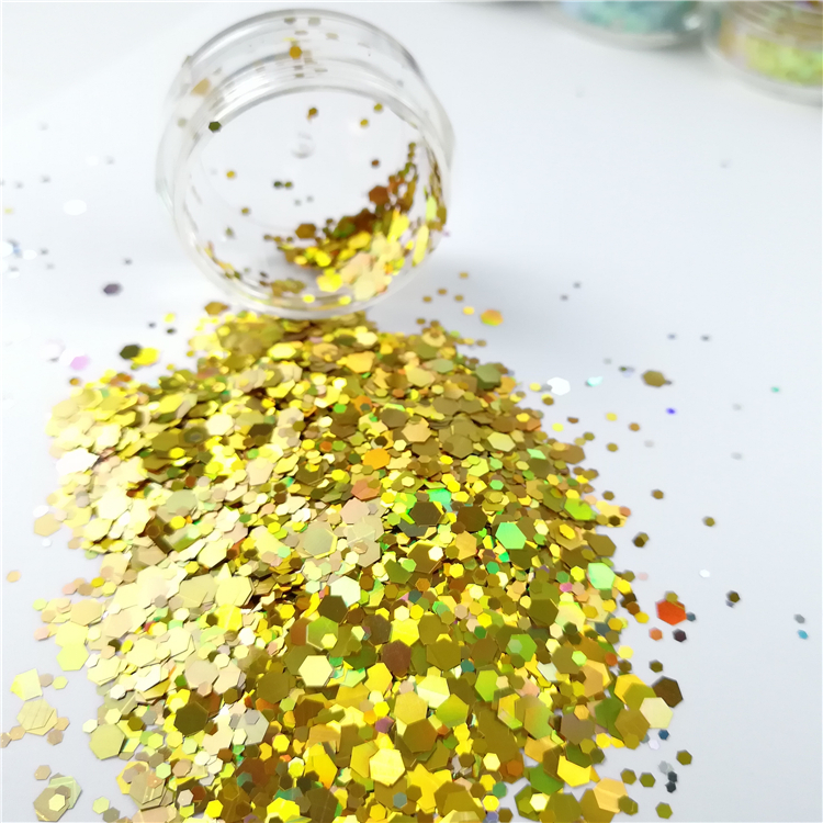 Bulk Commercio All'ingrosso Peel Off Formato Misto Chunky Glitter In Polvere