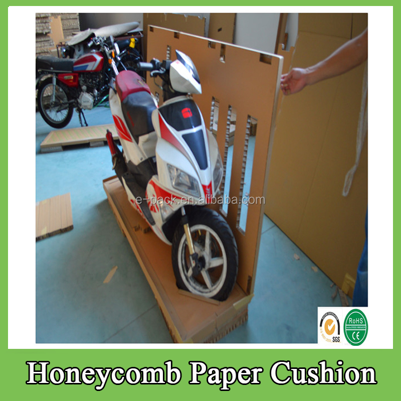 2016 Hot Sale Environmental Packaging Design Boxes Honeycomb Paper Recyclable Cushion for Motorcycle Packing