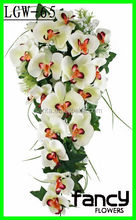 Wall decoration hanging artificial orchid wedding stage flowers