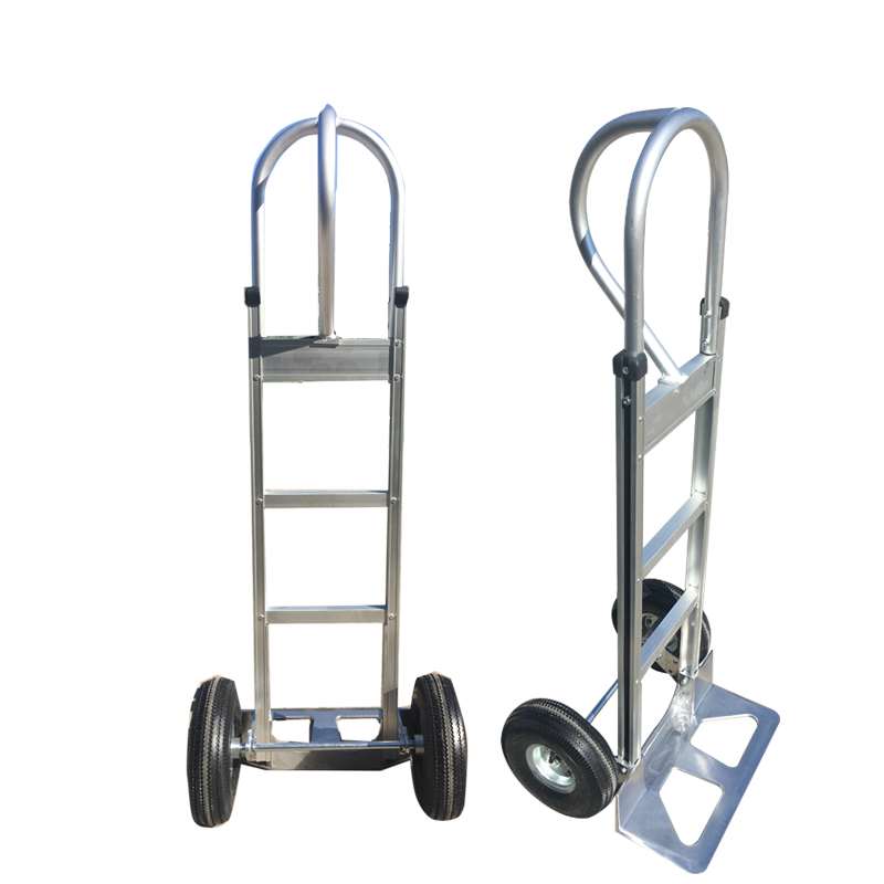 China construction two wheels aluminum hand trolley size with load capacity 600lbs