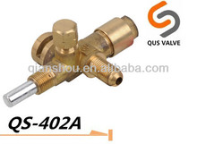 QS 402A one way brass safety gas heater valve for barbecue