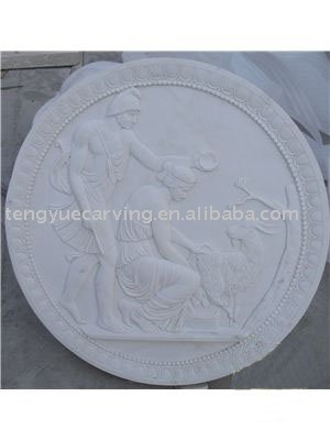 White Marble Relief Plaque