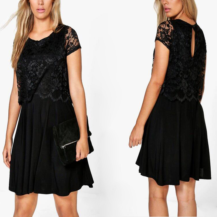 Ladies Sexy Lace Dress For Women Plus Size Clothing