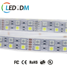 RGB+W SMD 5050 Double Row LED Strip Light 600LEDs DC 12V/24V IP66 Silicon Tube Flexible 3 Years Warranty