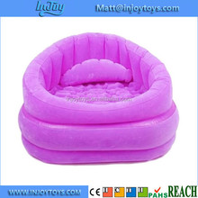 Portable Inflatable Cafe Chair Flocked Sofa