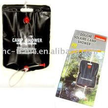 Outdoor douche PVC solar camp shower