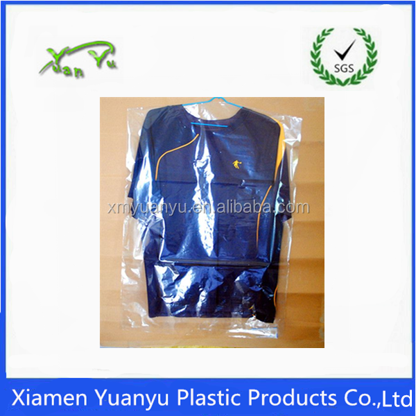 PE dry cleaning bag/packing plastic bag/clothes plastic cover for clothes