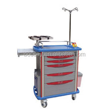 Bossay Medical Equipment BS-620 ABS Hospital Emergency Trolley