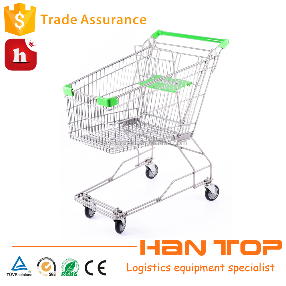 food carts supermarket free pulling shopping trolley HAN-AS125B 500