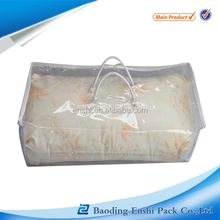 PVC zipper curtain packaging bag with H shape handle for promotion