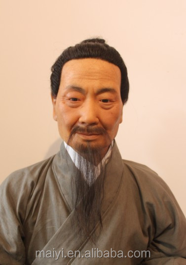 Ancient figure Yang liuqing lifesize wax statues for sale