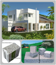 China prefab house - Daquan lightweight EPS cement sandwich wall panel building system.