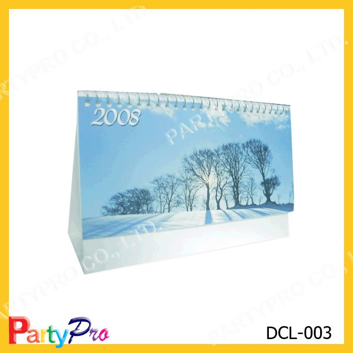 Customized desk / table calendar for gift, promotion