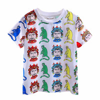 2016 In Stock New Arrivals Children T-shirt With Animal Printed Boys T shirt Fashion Boys Wear BT90315-9L