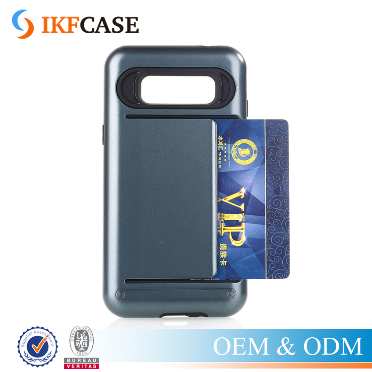 Heavy Duty 2 in 1 Dual Layer TPU PC Card Slot Armor Phone Cover Case For Samsung Galaxy J3