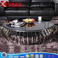 oval stainless steel tea table antique living room table