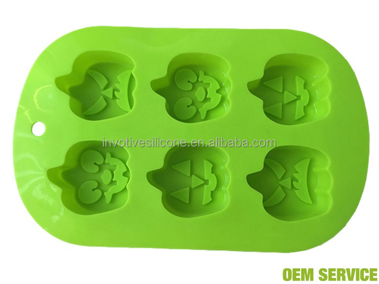 Silicone pumpkin Halloween Cake Candy pastry Biscuits Ice Mold