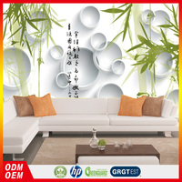 nature gree bamboo 3d wallpaper murals hotel wallpaper murals hot sale