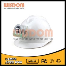 Low color temperature,Pure white lamp 3 head torch for underground mine