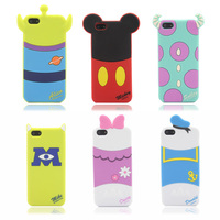 New arrival cute cartoon Mike Verney Pooh Alien Minnie and Sulley model silicon material Cover case for iphone 5 5S 5C
