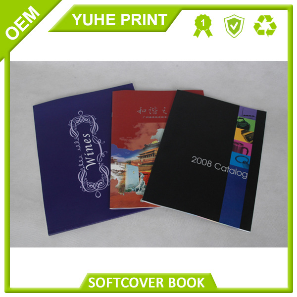Customized Guangzhou supplier well price superior high quality art paper Patone printing Soft cover clear book