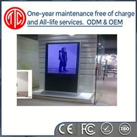 55 inch floor stand network led advertising mirror