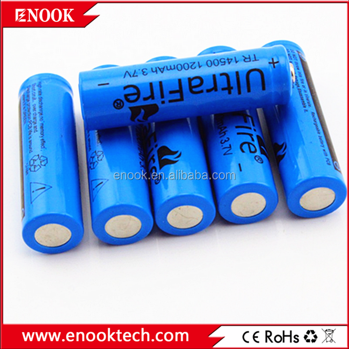 14500 LI-ion 1200mah Ultrafire 3.7V Rechargeable Battery /14500 for flashlight
