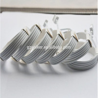 1M high quality mobile phone charger cable usb round cable for apple iphone 5 6