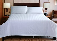 100% Natural Cotton 3cm Stripe Style Linen Bed Sheet