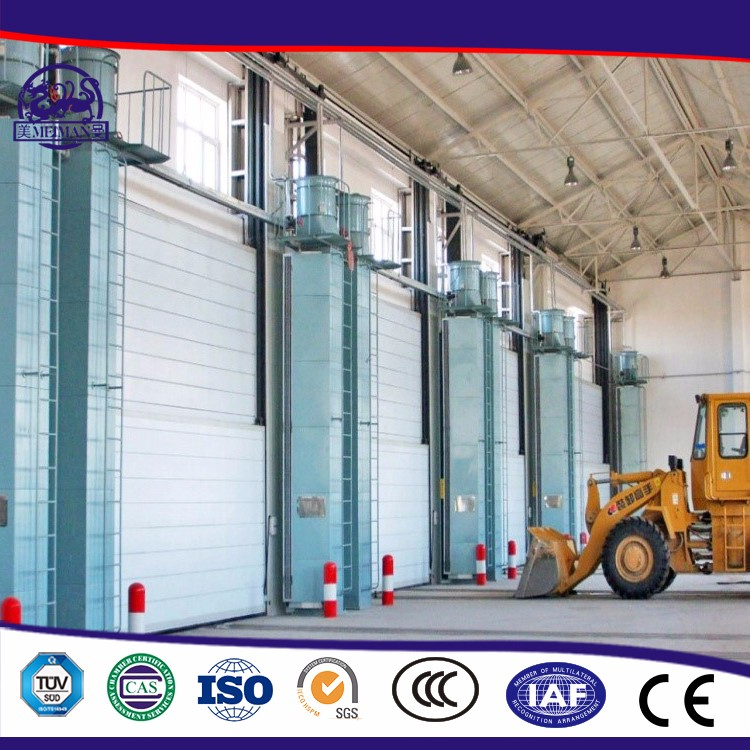 New Products Lifting Industrial Sectional Door With Windows