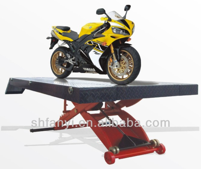 800lbs pneumatic motorcycle scissor lift CE approved Shanghai Fanyi QJYS1