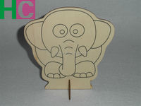 DIY wooden elephant toy for children