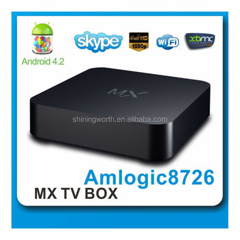 Shiningworth wholesale android smart tv set top box amlogic 8726 dual core ott skype tv box
