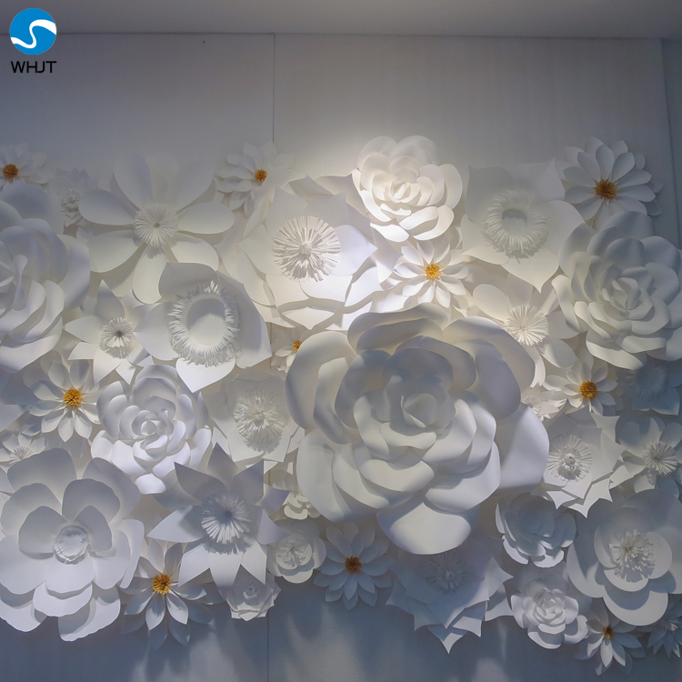 Giant White Paper Flowers For Wedding Backdrops Wall Buy Flower