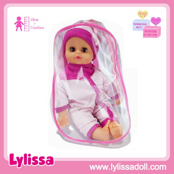 Top Selling Soft Cotton Vinyl 14 Inch Baby Doll Beautiful Girl and Boy